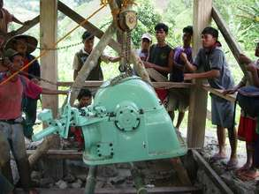 Installing the 30 kW Turbine for Microhydro Plant