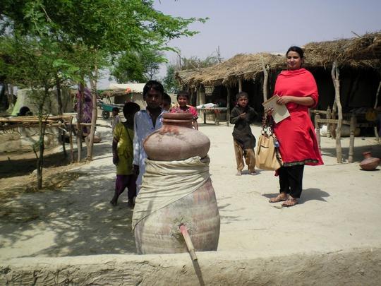 Mis. Tahira, women worker of AHD field visit