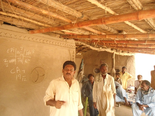 Mr. Ashraf, social mobilizer AHD visiting houses