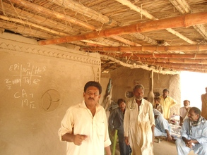 Mr. Ashraf, social mobilizer AHD visiting houses