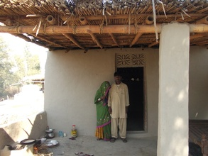Mrs. Wali wife of Gaino is very happy in her house