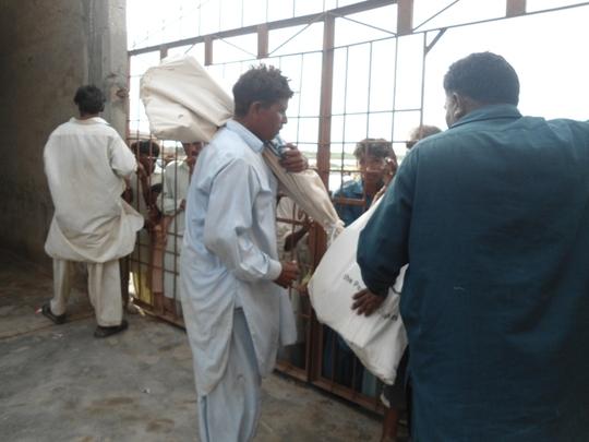 Nazir Masih receiving tool kit for mason work