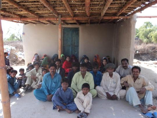 Flood Victims constructing new primary school near