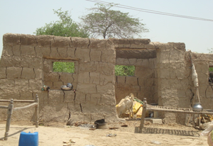 Now walls constructed by village family