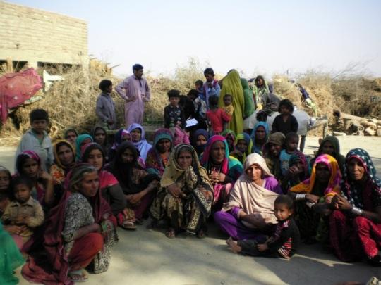 Village women group did repair of their houses