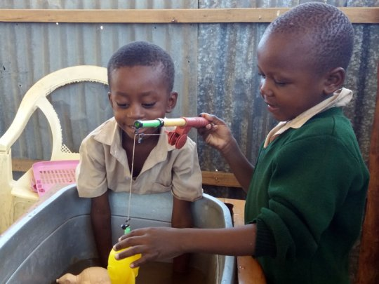 Water play for nursery children