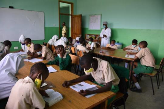 Socially distanced teaching older children