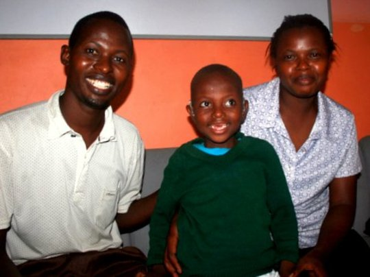 Hope with her very happy parents