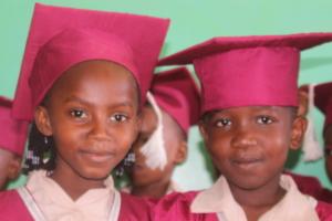 Two proud graduates