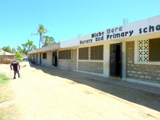 The far end of the school is not complete inside