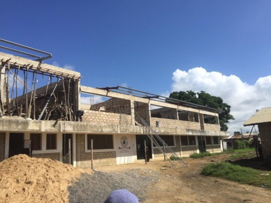 Building will soon have a roof