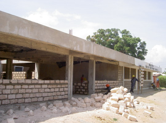 Ground floor brickwork