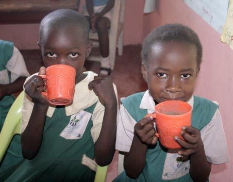Porridge, part of the feeding programme