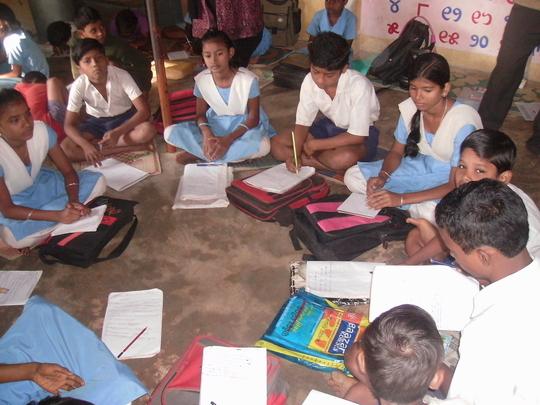 Frienship education at Tarini Basti Education cen