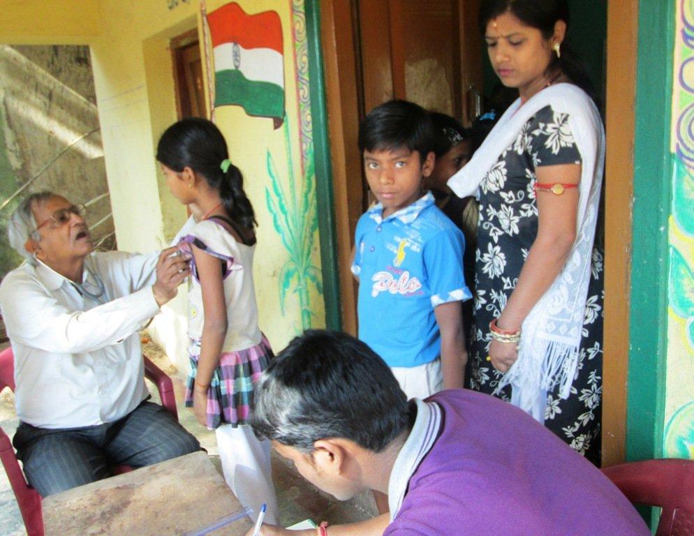 Health camp at Laxmisagar BhoiSahi Remedial Centre