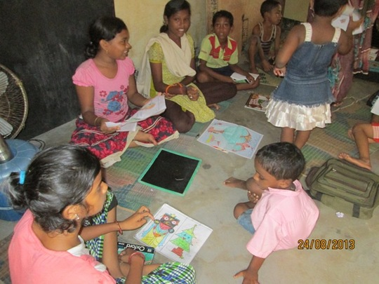 Frienship education at Narayan Basti Education cen
