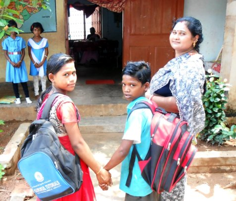 Children are going to school