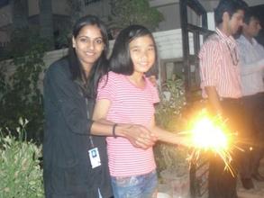 Udayan girl with  Corporate Volunteer