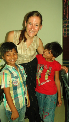 Children Posing with Alexis