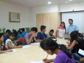 Dr.Gupta conducting Anger Management Workshop