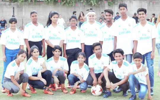 Udayan Care children won the match by 3-2