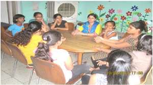Life Skill workshop with adolescent girls