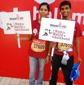 Udayan Kids at the Delhi Marathon 2012