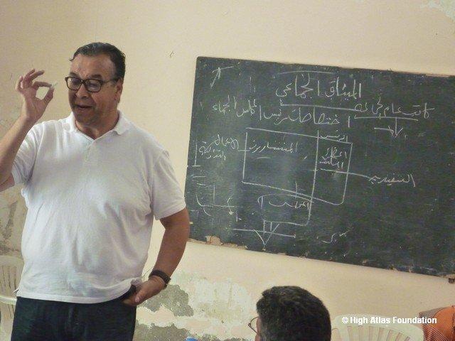 The trainer - Mr Mustapha Neflous of CNDH