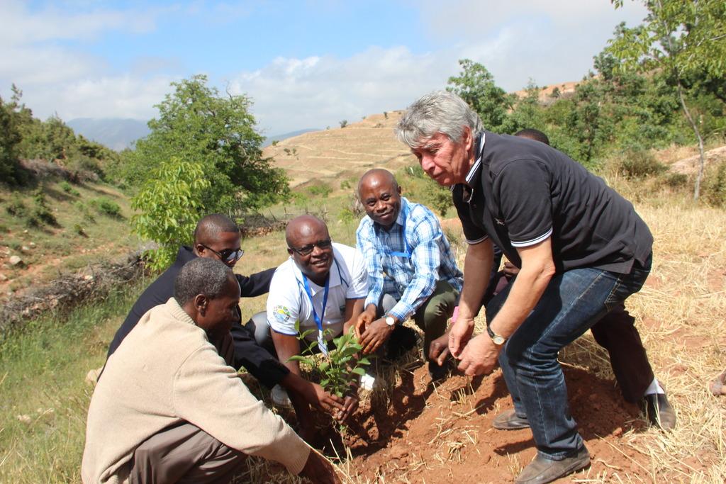 UNDP GEF SGP Members Plant Tree in Tadmamt Nursery