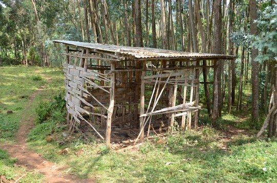 Old latrine no longer in use