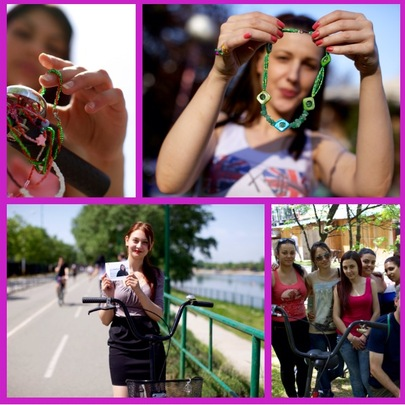 Serbian JewelGirls with their new bikes