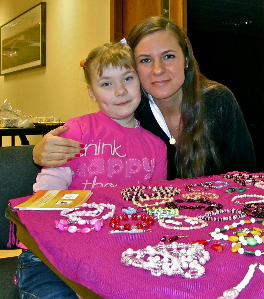 Elena with a very happy JewelGirl, 2011