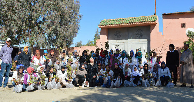 The female students from the school in Bouchane