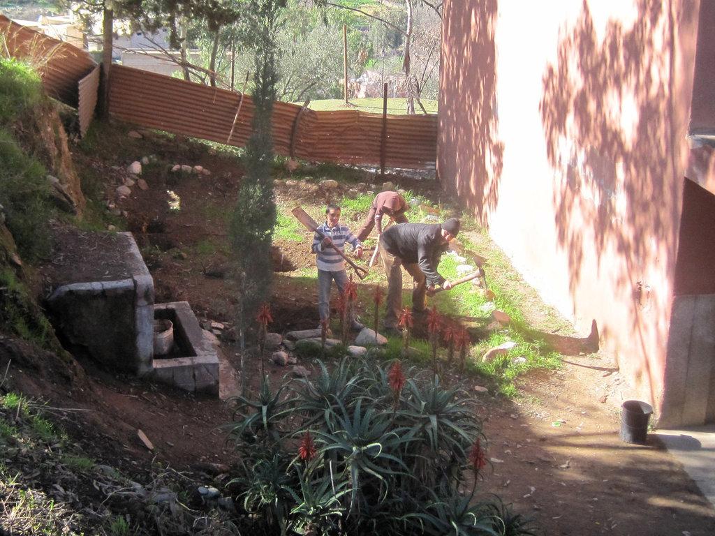 One of the planting sites at Madrasa Al Atlas