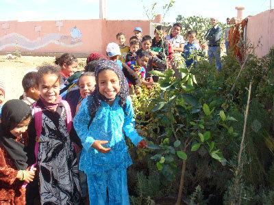 Children in schoolyard
