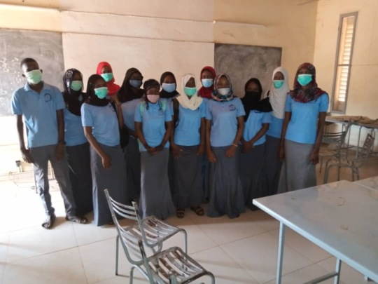 Back to school, Bac candidates with masks