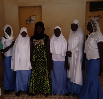 Health Care students in nursing uniforms