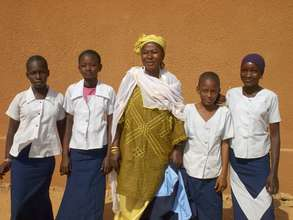 Mrs Moussa,  Home Ec. teacher, and her students