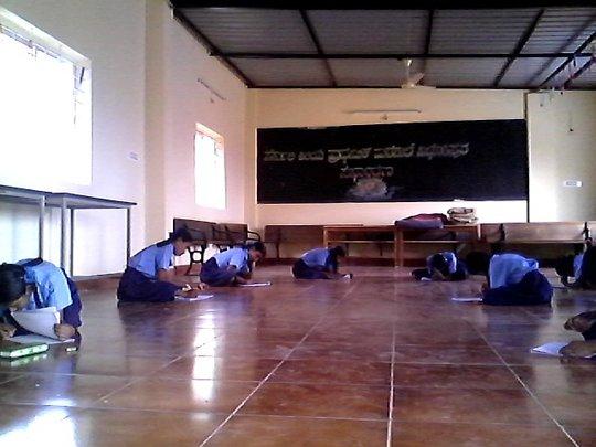 Assessment in progress in Domlur schools