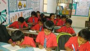 Students writing the assessment test