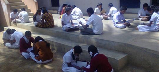 Kids in the reading program