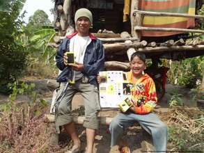 Family with Waka lamp