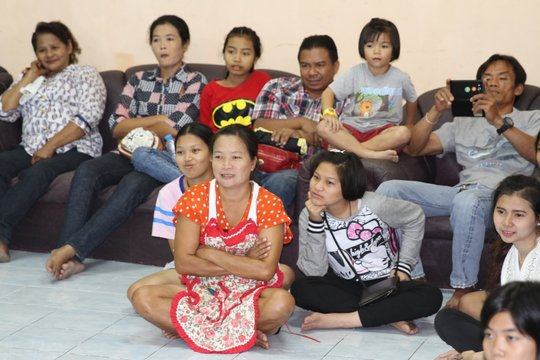 Some of the attending families