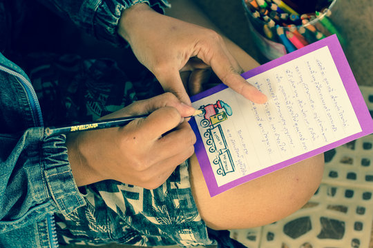 Writing letter to sponsor in Europe
