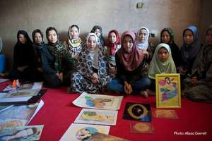 Girls in an AIL learning center