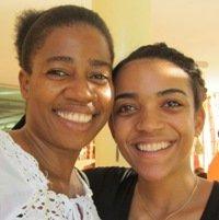 KOFAVIV leader with MADRE Haiti Program Assistant