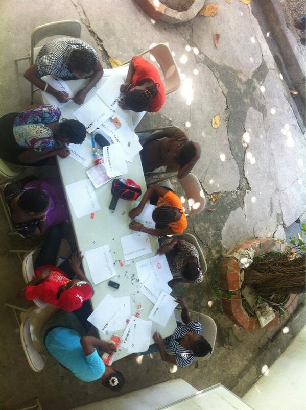 Young girls participating at the Saturday Workshop