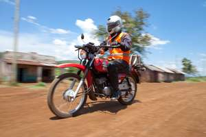 Health worker mobilized by Riders