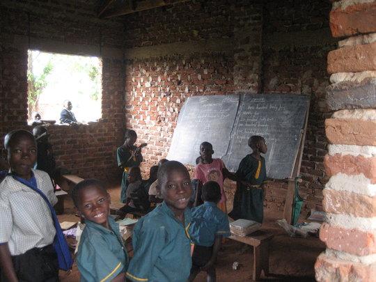 A classroom at Future Victory School