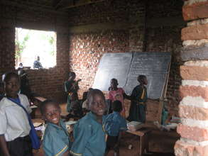 A classroom at Future Victory School